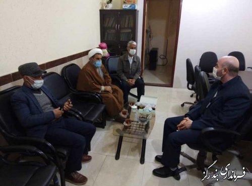دیدار رئیس اداره تبلیغات اسلامی شهرستان و اعضای ستاد اقامه نماز بندرگز با بخشدار