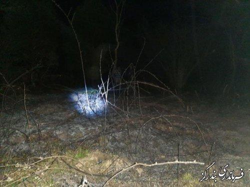 آتش سوزی مناطق جنگلی بنفش تپه بخش نوکنده مهار شد