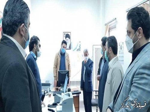 بازدید فرماندار بندرگز از ستاد انتخابات بخش نوکنده