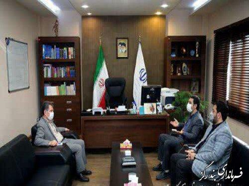 دیدار فرماندار بندرگز با رئیس سازمان مدیریت و برنامه ریزی گلستان