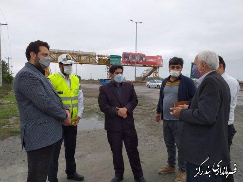 بازدید مدیرعامل شرکت توسعه زیرساخت راه های استان از پروژه های بندرگز