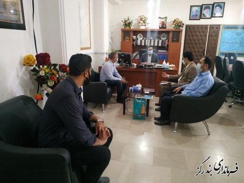 رئیس و کارکنان میراث فرهنگی، گردشگری و صنایع دستی با فرماندار بندرگز دیدار کردند