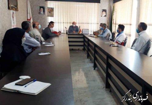 جلسه مدیریت بحران بخش مرکزی بندرگز برگزار شد