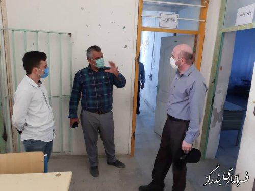 بخشدار مرکزی بندرگز از مدرسه شهید نواب صفوی بازدید کرد