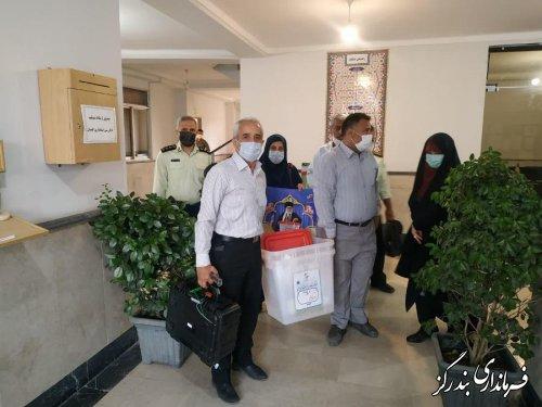 صندوق های اخذ رای در 55 شعبه توزیع شد