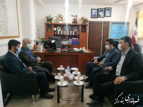 رئیس اداره کل دادگستری استان گلستان با فرماندار بندرگز دیدار کرد