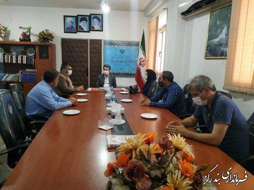 رئیس و کارکنان مرکز فنی و حرفه ای شهرستان بندرگز با فرماندار دیدار کردند