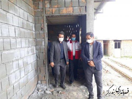 بازدید فرماندار و مدیرعامل هلال احمر گلستان از پایگاه امداد در حال ساخت بندرگز