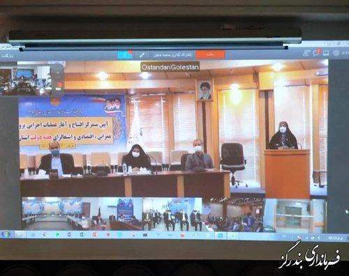 افتتاح متمرکز عملیات اجرایی پروژه های عمرانی اقتصادی و اشتغالزای گلستان