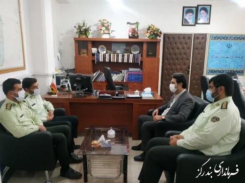 فرمانده انتظامی شهرستان بندرگز با فرماندار دیدار کرد