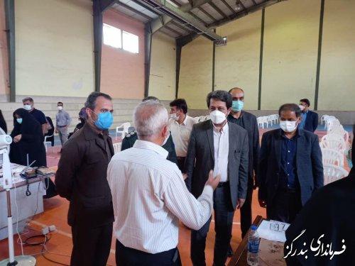 فرماندار بندرگز از مراکز واکسیناسیون بازدید کرد