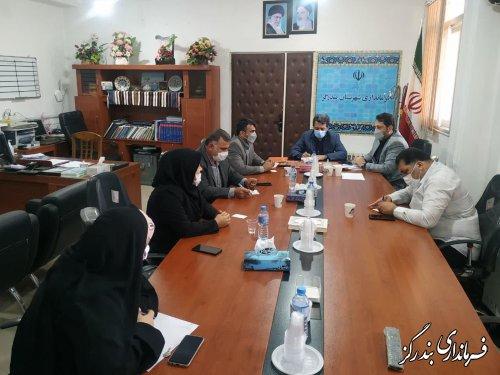 جلسه شورای اسلامی شهرستان در فرمانداری بندرگز برگزار شد