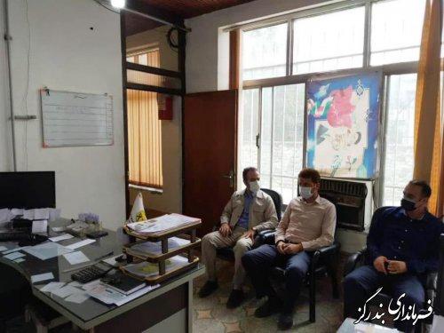 بازدید بخشدار از اداره توزیع نیروی برق نوکنده