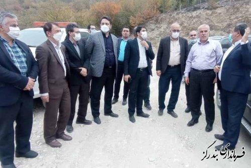 بازدید مدیران کل راهداری استان های گلستان و مازندران از پروژه جاده قل قلی بندرگز