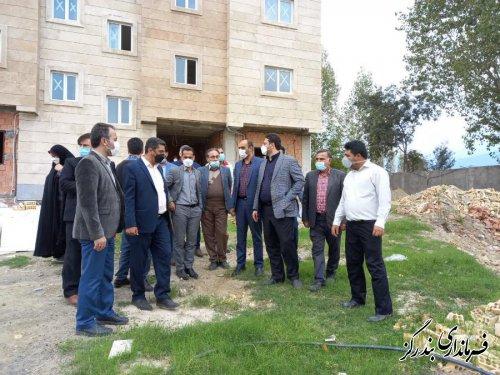 بازدید مسوولان استانی و شهرستانی از مرکزخدمات سلامت در حال احداث نوکنده